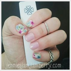 The wrap that started my Jamberry story sweet surprise and daydream mixed mani!