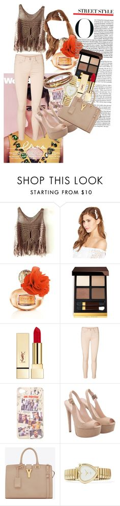 """""""Untitled #14"""" by angeliquemetta ❤ liked on Polyvore featuring Tom Ford, PUR, Emma Watson, Vero Moda, Yves Saint Laurent and David Yurman"""