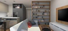 Nowoczesne, dwupokojowe mieszkanie na wynajem w centrum Katowic, polecane osobom prywatnym i firmom. Jednolite kolorystycznie wnętrze zaaranżowane w nowoczesnym, eklektycznym stylu, stwarzającym wrażenie dużej, otwartej przestrzeni.
