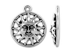 TierraCast Antique Silver Sunshine Charm