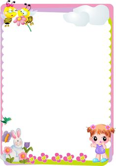 34 Free borders and frames - Aluno On Frame Border Design, Boarder Designs, Page Borders Design, Hello Kitty My Melody, Boarders And Frames, Kids Background, School Frame, Baby Frame, Birthday Frames