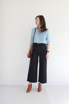 Style Bee - Everlane Wide Crop Pant
