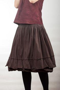 Cotton-knit skirt / Oksana Solovaya