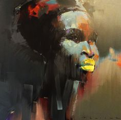 "africanartagenda: "" Peter Pharaoh Country: Republic of South Africa Style: Abstract, Contemporary, Portraiture Abstract Portrait, Portrait Art, Portrait Paintings, Abstract Art, Portraits, Natural Hair Art, African American Artist, South African Artists, Black Women Art"