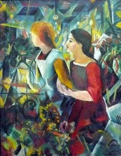 Zwei Mädchen (1913) August Macke