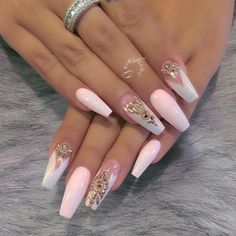 manicure gel nail art 2018 - style you 7 Cute Acrylic Nails, Acrylic Nail Designs, Cute Nails, Pretty Nails, Nail Art Designs, Gel Nail Art, Claw Nails Designs, Nail Crystal Designs, Pretty Shoes