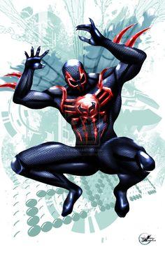 Spiderman 2099 Final by JonHughes.deviantart.com on @deviantART