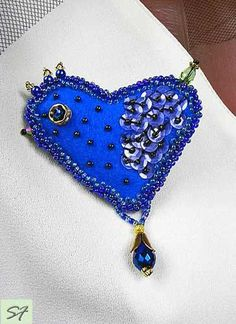 Christmas Gift, Bird Jewelry, Blue Brooch, Bird Brooch Bead Embroidered Jewelry, Brooch Beadwork Jewelry, Felt Brooch, Gift for Her, Woman by SilkFantazi on Etsy