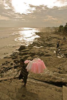 Candy floss, Echo beach, Bali