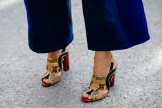 Shoe inspiration from Stockholm Fashion Week. Visit www.karenannletti... for more styling information and tips!