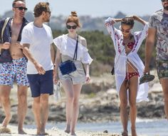 The brunette beauty, displayed her enviably toned figure in a tiny polka dot bikini as she walked arm-in-arm with her beau to a lavish yacht. Polka Dot Bikini, Red Bikini, Bikini Babes, The Brunette, Brunette Beauty, Michael Fassbender And Alicia Vikander, Parisienne Style, Ibiza, Bikinis