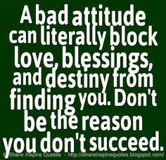 MAXMILLIAN THE SECOND: A bad attitude can literally block love......