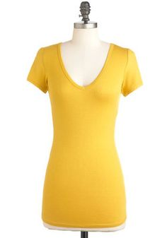 V, Myself, and I Tee in Mustard, #ModCloth