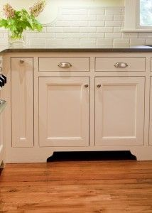 Love the level of detail these cabinet legs give the kickspace vacuum blends right in - Kitchen cabinet toe kick options ...
