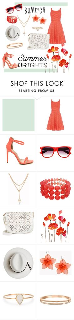"""Summer Brights"" by emilymeans ❤ liked on Polyvore featuring Coast, Under One Sky, Calypso Private Label, Dsquared2, Catbird, Swarovski and summerbrights"