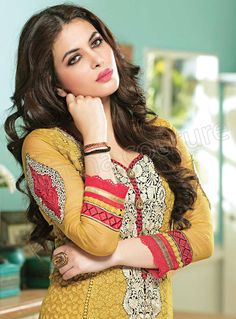 Latest Pure Georgette Straight Cut Suits 2014 by Natasha Couture (1)