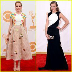Kiernan Shipka & Morgan Saylor - Emmys 2013 Red Carpet