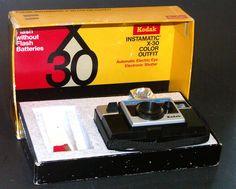 Kodak Instamatic X-30 Camera Box Set 1972 Olympic Decal Manual Cube #Kodak