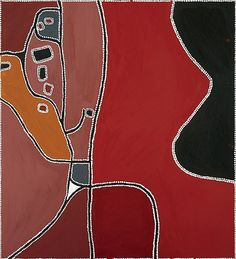 Freddie Timms / Bow River , 1999 Natural earth pigments on canvas  122 x 135cm