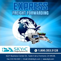 Sky2c Freight System is express #air #freight #forwarding company in #USA services throughout the world.  #freightforwarder