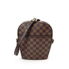 Louis Vuitton Ipanema PM Damier Ebene Brown Coated Canvas Messenger & Crossbody Bag