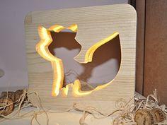 "Children's lighting ""Fox"", Night Light ""Fox"", New Table Lamp Wood, Wooden Lamp, Study Lamps, Bubble Wall, Baby Night Light, Nursery Lighting, Table Lamps For Bedroom, Nightlights, Night Lamps"