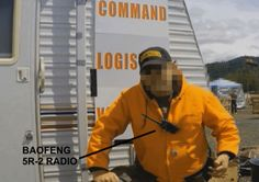Oregon 2015 mine standoff militant at with Baofeng Portable Ham Radio, Survival Skills, Survival Stuff, Radio Frequency, Radios, Helpful Hints, Oregon, Ham Radio, Useful Tips