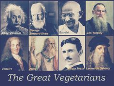 The GREAT VEGETARIANS