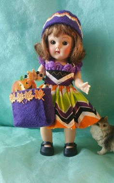 TRICK OR TREAT outfit Halloween fit Ginny Muffie Madam Alexander 8 inch doll #MadameAlexander