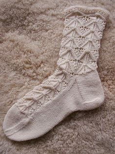 Glamour was designed for the Socken-Kreativ-Liste, a German Yahoo-KAL with 2000 members. It is available in English and in German. Knitted Socks Free Pattern, Crochet Socks, Knitting Socks, Knit Crochet, Lace Socks, Wool Socks, Toe Warmers, Bed Socks, Sock Toys