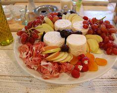 prosciutto, fruit, cheese, mmmmmm.....
