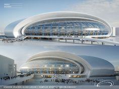 Craiova Football Stadium Proposal,Courtesy of Proiect Bucuresti