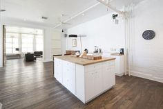 open-plan kitchen with island