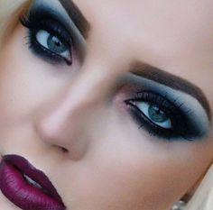 Fall makeup look Pretty Makeup Looks, Fall Makeup Looks, Pretty Face, Teal Makeup, Makeup Tattoos, Fantasy Makeup, Dark Beauty, Eye Make Up, All Things Beauty
