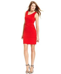 Calvin Klein Dress, Sleeveless Pleated Cocktail Dress - Womens Dresses - Macy's