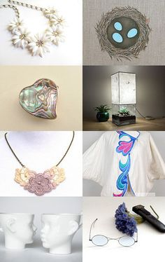 """""""Spring can be subtle"""" Treasury Curated by Judy @  https://www.etsy.com/shop/judygovintage  Featuring my Natural Nautilus shell half set in 925 sterling silver @  https://www.etsy.com/listing/108041207/natural-nautilus-shell-half-set-in-925?ref=tre-2721589493-15"""