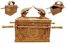Ebros Gift Ark Of The Covenant With Two Cherubim Angels Golden Decorative Box Figurine Long Arc Of The Covenant, Hebrew Bible, Biblical Art, Wooden Chest, Christian Jewelry, Labrador Retriever Dog, Grey Cats, Collectible Figurines, Bible Art