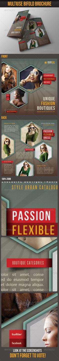 Flexible Multiuse Bifold Brochure PSD TEMPLATE The Pack included:    2 PSD files  Front and Back side  PSD is well organized and