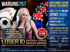 Dengan 1 User ID Bisa Bermain Untuk Semua Games. 0,8% Komisi Rollingan Live Casino 0,5% Komisi Rollingan Sportsbook Cashback 5% Sportsbook Cashback 5%-10% Slot Game Cashback 0,2% Turnover Poker, DominoQQ, CEME, Blackjack Cashback 5% NumberGame3D Dengan 1 User ID Bisa Bermain Untuk Semua Games. www.warung757.com/ Daftar -- > www.warung757.com... LiveChat -- > www.warung757.com Fanspage Facebook -- > facebook.com/... Pin BB -> 7B4EE8D7