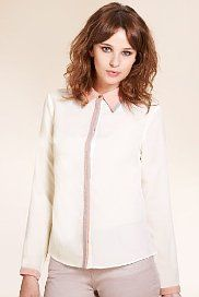 Limited Collection Contrast Trim Blouse