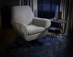 charles burnand, mid century modern armchair