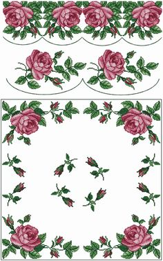 "ABC Designs Roses 4 Machine Embroidery Cross Stitch Designs Set 5""x7"" Hoop | eBay"