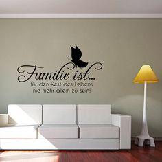 Wandtattoo - Familie ist