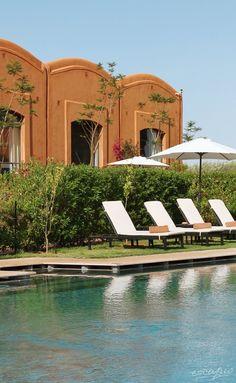 Pool at the Adama Resort Marrakech. Morocco