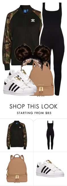 """Untitled #42"" by africanqueen000 on Polyvore featuring Topshop, MICHAEL Michael Kors and adidas"