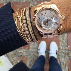 Rose Gold Rolex SkyDweller Photo by @anilarjandas #LuxuryLifestyleMagazine