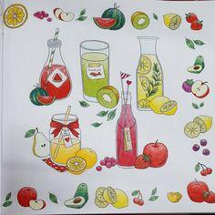 """#coloringandthefood #coloringbook #美味时光 #컬러링앤더푸드 #컬러링북"""