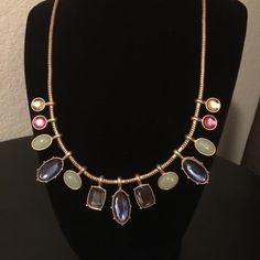 NEW Vintage Glam-Statement Necklace A touch of elegance is seen in this vintage like necklace. Different shapes, sizes and colors create a delicate form for the décolleté. 15-18 inches with an adjustable closure. Jewelry Necklaces