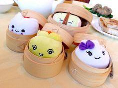 Dim Sum mini plushies - Dim Sum City