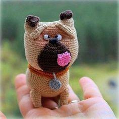 Mel the pug - The secret life of pets - free crochet pattern